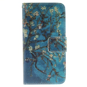 Flip Leather Case Protector for iPhone 8 / 7 4.7 inch - Almond Tree in Blossom