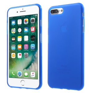 For iPhone 8 Plus / 7 Plus 5.5 Inch Slim TPU Case Frosted Cover - Blue