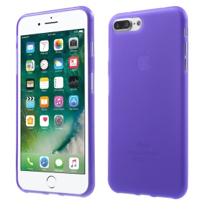Frosted TPU Back Case Skin for iPhone 8 Plus / 7 Plus 5.5 Inch - Purple