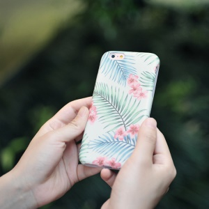 MAOXIN Patterned Silicone Back Case for iPhone 6s Plus/6 Plus - Summer Blooming Flower