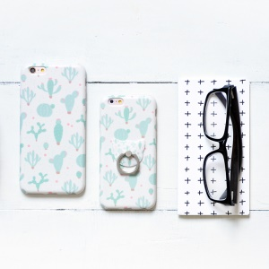 MAOXIN Patterned Silicone Cover Case for iPhone 6s Plus/6 Plus - Ball Cactus