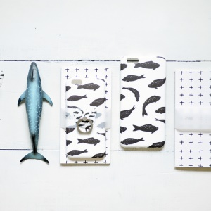 MAOXIN for iPhone 6s Plus/6 Plus Patterned Silicone Shell Cover - Fishes