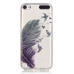 Soft IMD TPU Cover for iPod Touch 6 / Touch 5 - Feather Pattern