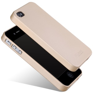 X-LEVEL Guardian Series Matte TPU Cover for iPhone 4 / 4S / Verizon iPhone 4 - Gold