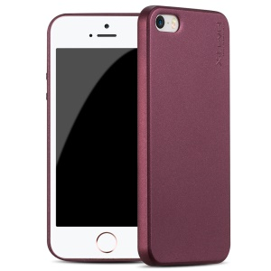 X-LEVEL Guardian Series Frosted TPU Cover for iPhone SE/5s/5 - Wine Red