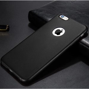 X-LEVEL for iPhone 6s 6 Guardian Series Matte TPU Case with Apple Logo Cutout - Black