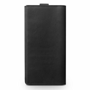 QIALINO Wallet Cowhide Leather Pouch with Pull Tab for iPhone 8 Plus/ 7 Plus/ 6s Plus/6 Plus Etc - Black