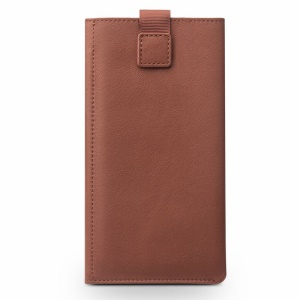 QIALINO Genuine Cowhide Leather Wallet Pouch Case for iPhone 8 Plus/ 7 Plus/ 6s Plus/6 Plus Etc - Brown