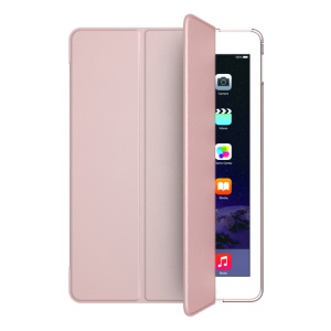 MOOKE Young Series Tri-fold Stand Smart Leather Shell for iPad Pro 9.7 inch - Rose Gold