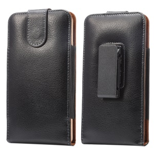 Split Leather Pouch Cover Holster with Belt Clip for Huawei Mate 8/Samsung Galaxy Mega 6.3 I9200 etc.