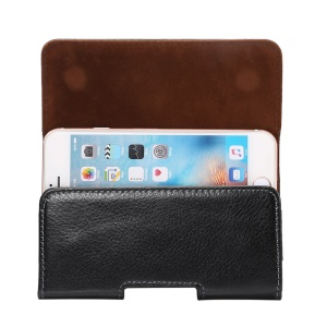 Horizontal Split Leather Pouch Holster for iPhone 6s/6, Size: 140 x 72 x 12mm