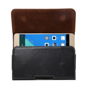 Estojo de couro Split Leather Pouch para iPhone 8 Plus / 7 Plus / Samsung Note 8 / A9, porte: 162 x 81 x 12mm