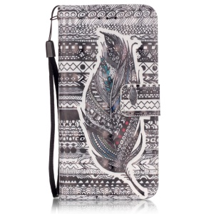 Wallet Leather Stand Case for iPhone 6s 6 - Feather Pattern