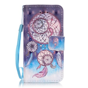 Patterned Magnetic Leather Phone Case for iPhone SE/5s/5 - Dream Catcher