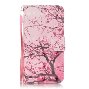Flip Stand Leather Wallet Shell for iPod Touch 6/5 - Booming Blossom