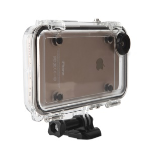 Outdoor Sports Waterproof Case with Wide Angle Lens for iPhone SE/5s/5 - Black