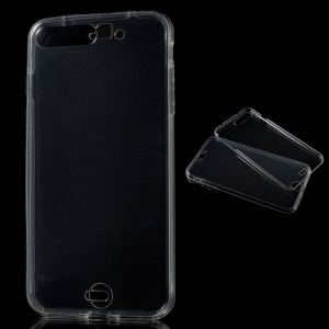 Clear Touchable Front + Back TPU Gel Case for iPhone 8 Plus / 7 Plus 5.5 inch - Transparent