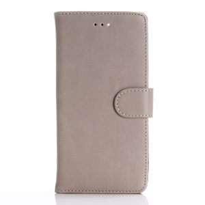 Retro Leather Wallet Stand Case Cover for iPhone 7 Plus - Grey