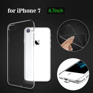 USAMS Primary Color Series Clear TPU Phone Cover for iPhone 7 4.7 inch - Transparent