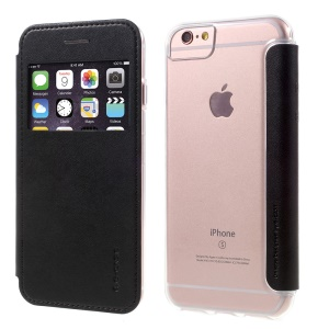 G-CASE Fashion View Window Leather Case for iPhone 6s/6/7 4.7 Inch - Black