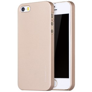 X-LEVEL Rubberized Hard PC Protective Cover for iPhone SE/5s/5 - Gold