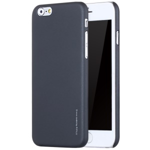 X-LEVEL Slim Rubber Coating PC Hard Case for iPhone 6s 6 - Black