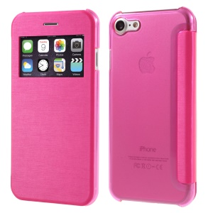 Folio Leather View Window Shell for iPhone 7 4.7 inch - Rose