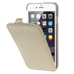 Litchi Skin Vertical Flip Leather Phone Cover for iPhone 7 4.7 inch - Gold