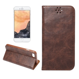Magnetic Crazy Horse Leather Flip Case for iPhone 7 4.7 - Coffee