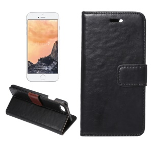 Crazy Horse Leather Stand Shell for iPhone 7 4.7 - Black