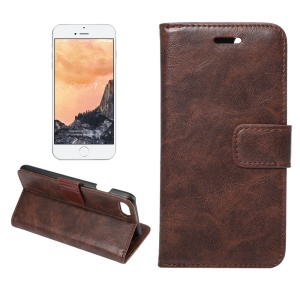 Crazy Horse Leather Phone Case for iPhone 7 4.7 - Coffee