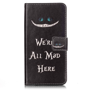 Wallet Leather Stand Cover for iPhone 7 Plus - We are all Mad Here