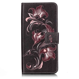 Wallet Leather Cover Case for iPhone 7 Plus - Beautiful Flowers