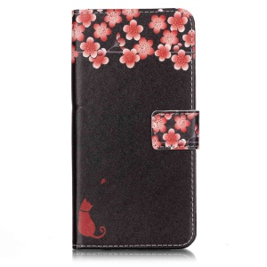 Magnetic Leather Stand Case for iPhone 7 Plus - Vivid Flowers