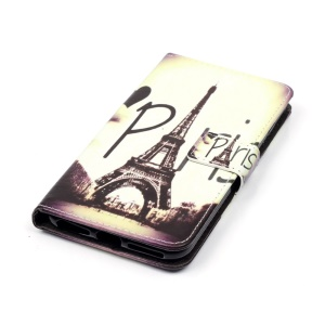 Magnetic Leather Stand Cover for iPhone 7 Plus - Paris Eiffel Tower