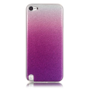 Glitter Powder IMD TPU Gradient Color Back Case for iPod Touch 6/5 - Light Purple