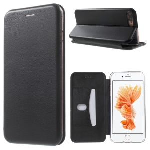 Magnetic Absorbed Shell Style Leather Cover for iPhone 7 Plus 5.5 inch - Black
