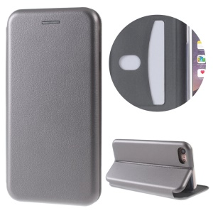 Magnetic Absorbed Shell Style Leather Stand Cover for iPhone 8 / 7 4.7 inch - Grey