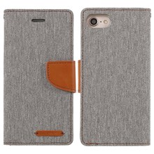 MERCURY GOOSPERY Canvas Diary Leather Cover for iPhone 8 / 7 4.7 inch - Grey