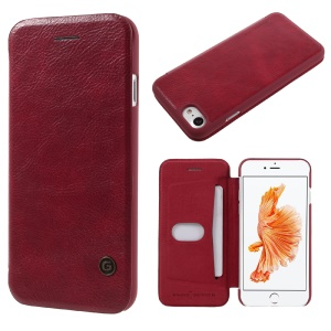 G-CASE Business Series Leather Case Card Holder for iPhone 8 / 7 4.7 Inch - Red