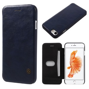 G-CASE Business Series Leather Cover Case for iPhone 8 / 7 4.7 Inch - Dark Blue