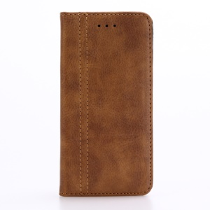Retro Style Stand Leather Shell Wallet for iPhone 7 4.7 inch - Light Brown