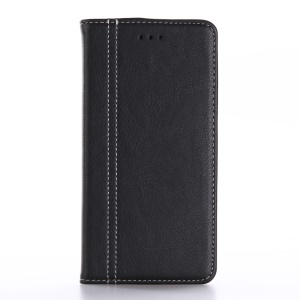 Retro Leather Skin Wallet Stand Case for iPhone 7 Plus - Black