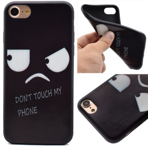 For iPhone 8 / 7 4.7 inch Pattern Printing Soft TPU Case - Angry Face