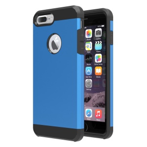 Hybrid Plastic + TPU Case Protector for iPhone 7 Plus 5.5 Inch - Baby Blue