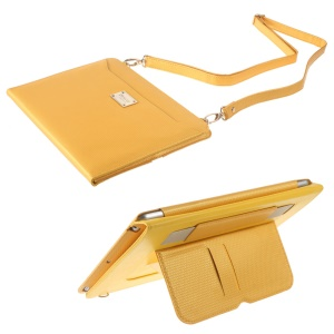 XINCUCO Summer Fashion Series Bag Style Stand Leather Smart Cover for iPad Air - Yellow