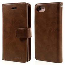MERCURY GOOSPERY Mansoor Wallet Diary Leather Case for iPhone SE (2nd Generation)/8/7 - Brown