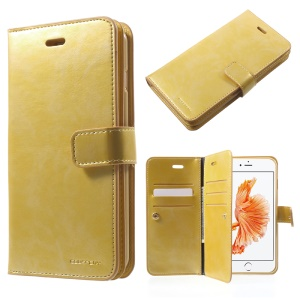 MERCURY GOOSPERY Mansoor Wallet Diary Case Leather Cover para iPhone 8 Plus / 7 Plus 5.5 inch - ouro