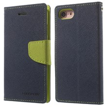 MERCURY GOOSPERY Fancy Diary Leather Case with Card Slots for iPhone SE (2nd Generation)/8/7 - Dark Blue