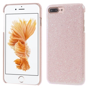 For iPhone 8 Plus / 7 Plus 5.5 Glitter Sequins Hard Case PC Shell - Pink